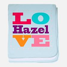 I Love Hazel baby blanket