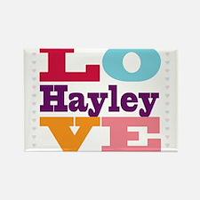 I Love Hayley Rectangle Magnet