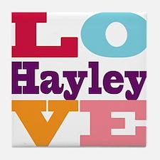 I Love Hayley Tile Coaster