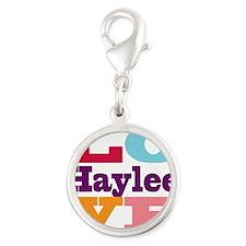 I Love Haylee Silver Round Charm