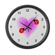 Unique Ladybug Large Wall Clock