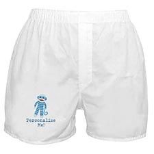 Baby Blue Sock Monkey Boxer Shorts