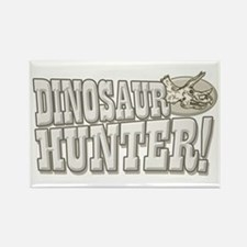 Dinosaur Hunter Rectangle Magnet