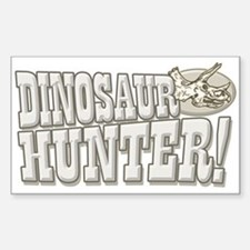 Dinosaur Hunter Rectangle Decal