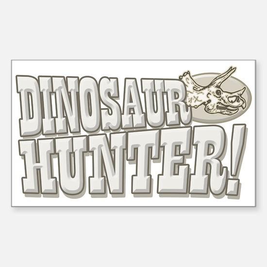 Dinosaur Hunter Rectangle Decal