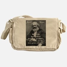 What The Bourgeoisie - Karl Marx Messenger Bag