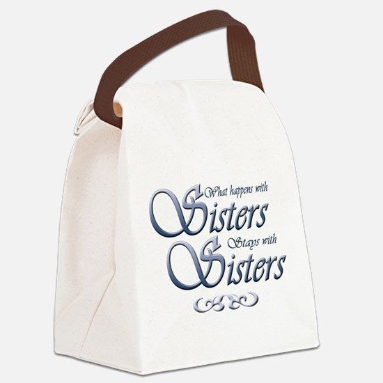 Sisters in Blue Canvas Lunch Bag