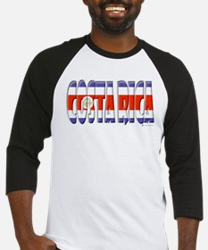 Word Art Flag Costa Rica Baseball Jersey