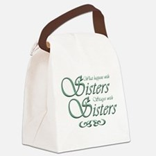 Sisters in Green Canvas Lunch Bag
