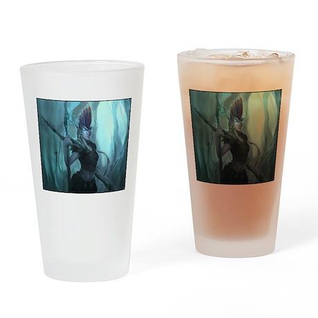 Shalah with border Drinking Glass