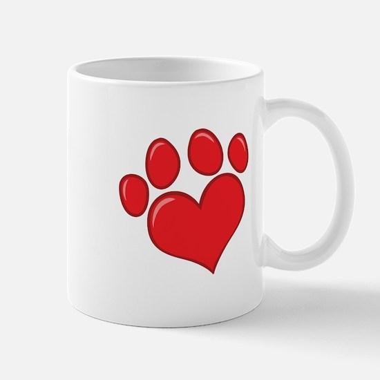 pet paw heart Mug