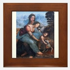The Virgin and Child Framed Tile
