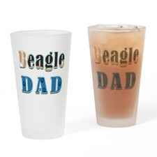 Beagle Dad Colors Drinking Glass