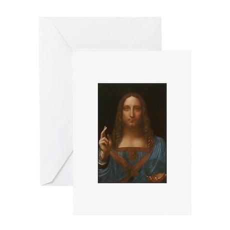 Salvator Mundi Greeting Card