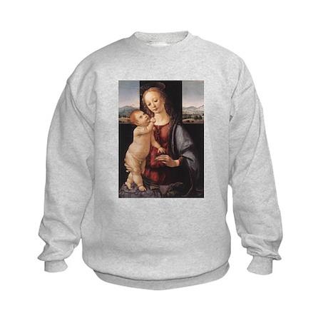 Madonna with child Kids Sweatshirt