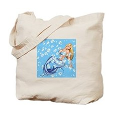 Mermaid and Bubbles Tote Bag