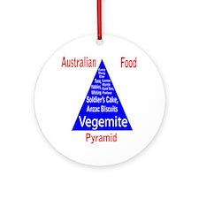 Australian Food Pyramid Ornament (Round)