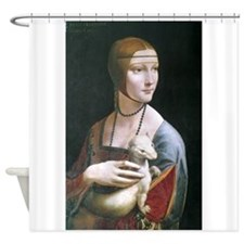 Lady with an Ermine Shower Curtain