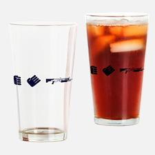 Rock Paper Shotgun Drinking Glass
