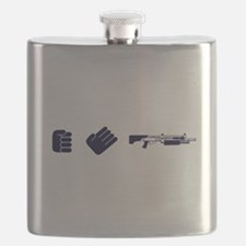 Rock Paper Shotgun Flask