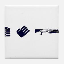 Rock Paper Shotgun Tile Coaster