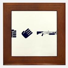 Rock Paper Shotgun Framed Tile