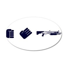 Rock Paper Shotgun 20x12 Oval Wall Decal