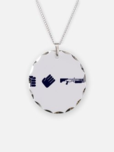 Rock Paper Shotgun Necklace