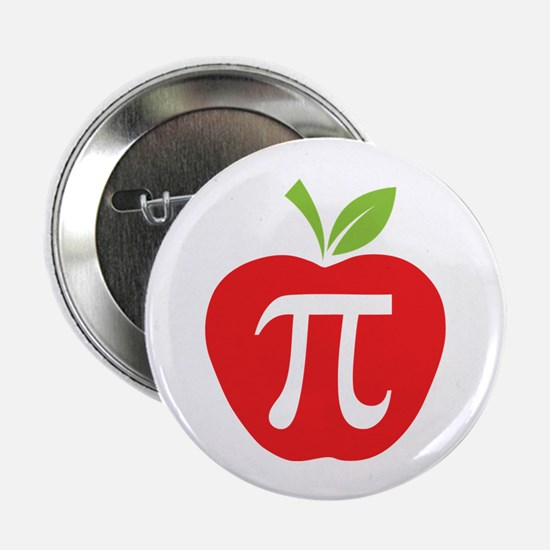 """Apple Pi 2.25"""" Button (10 pack)"""