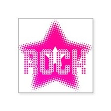 "Rock Star Square Sticker 3"" x 3"""