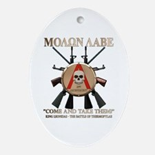 Molon Labe - Spartan Shield Ornament (Oval)