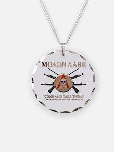 Molon Labe - Spartan Shield Necklace