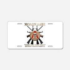Molon Labe - Spartan Shield Aluminum License Plate