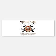Molon Labe - Spartan Shield Bumper Bumper Sticker