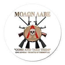 Molon Labe - Spartan Shield Round Car Magnet