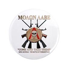"""Molon Labe - Spartan Shield 3.5"""" Button (100 pack)"""