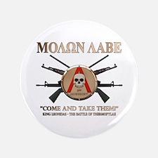 """Molon Labe - Spartan Shield 3.5"""" Button"""