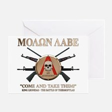 Molon Labe - Spartan Shield Greeting Card