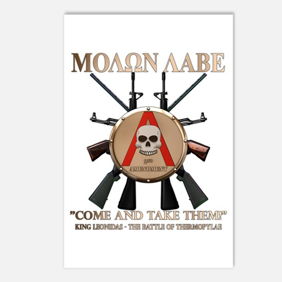 Molon Labe - Spartan Shield Postcards (Package of