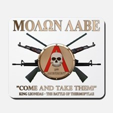 Molon Labe - Spartan Shield Mousepad