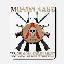 Molon Labe - Spartan Shield Mousepad