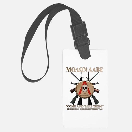 Molon Labe - Spartan Shield Luggage Tag