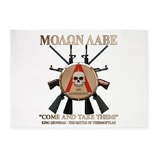 Molon Labe - Spartan Shield 5'x7'Area Rug