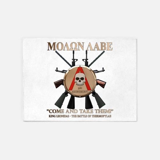 Molon Labe - Spartan Shield 5'x7'Area Rug