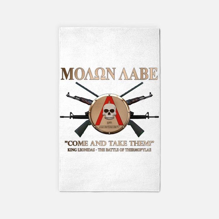 Molon Labe - Spartan Shield 3'x5' Area Rug