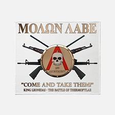 Molon Labe - Spartan Shield Throw Blanket