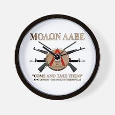 Molon Labe - Spartan Shield Wall Clock