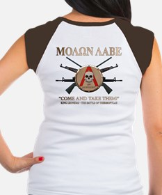 Molon Labe - Spartan Shield Women's Cap Sleeve T-S