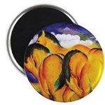 """YELLOW HORSES 2.25"""" Magnet (100 pack)"""