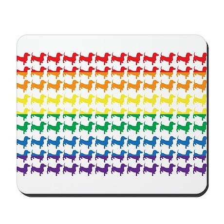 Rainbow Doxies Mousepad